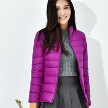 13 Color Options Winter Women Ultra Light Down Jacket 90% Du