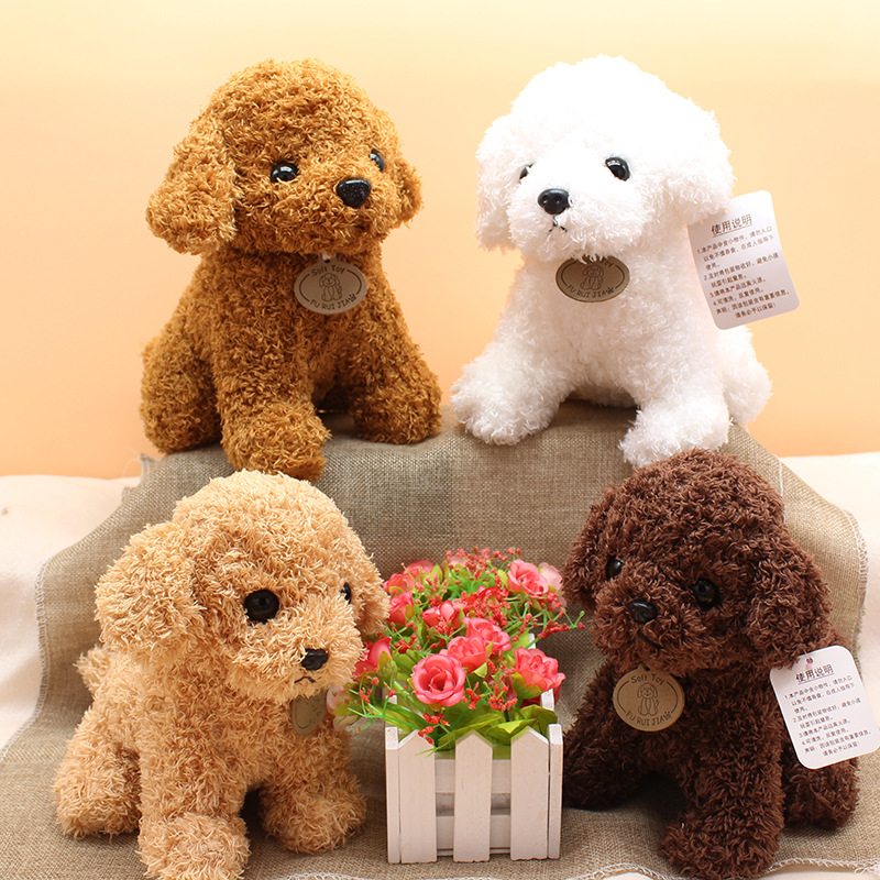 Real Life Teddy Dog Poodle Plush Toys Suffed Animal Doll For Christmas Birthday Gift Free Shipping