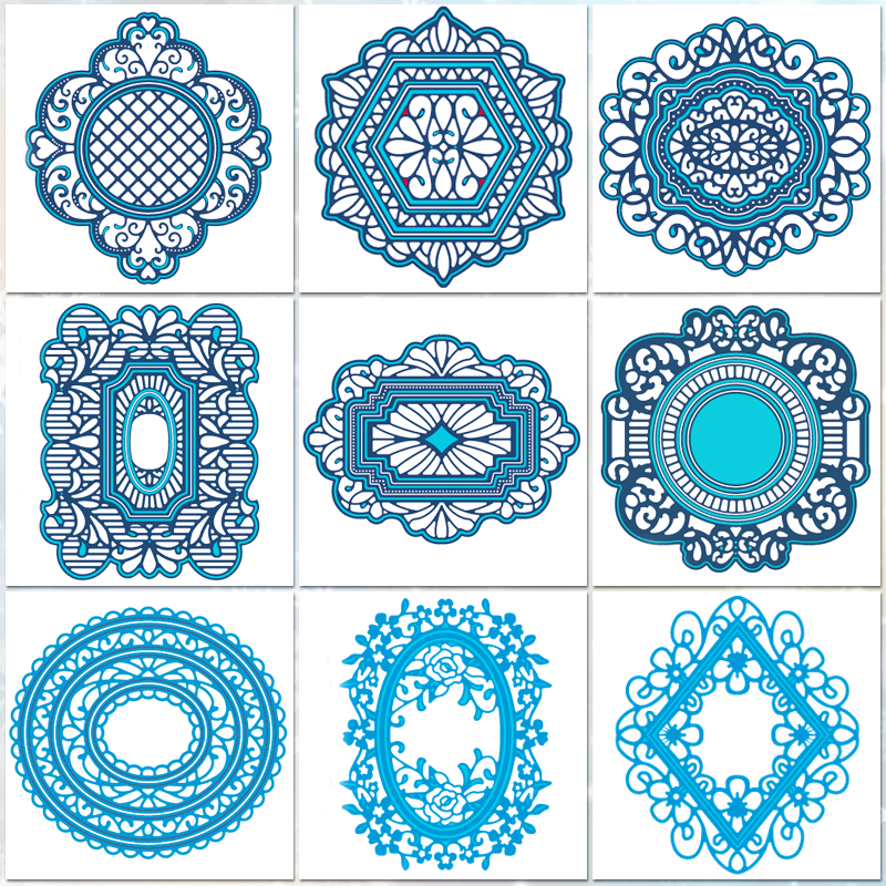 Frame Dies Collection Metal Cutting Dies Scrapbooking Album Decoration Stamps And Dies For Card Making Craft Dies Cut New 2018
