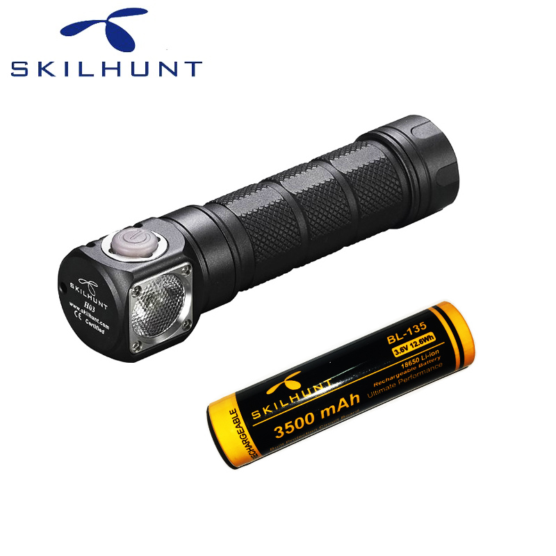 Skilhunt H03 LED Lampe Frontale CREE XML-2 U4 LED 1200Lm phare chasse pêche y compris batterie
