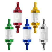 5 цветов ЧПУ Алюминиевый сплав стекло мотоцикл газ Топливо Бензин масляный фильтр Мото Аксессуары для ATV Dirt Pit Bike мотокросс
