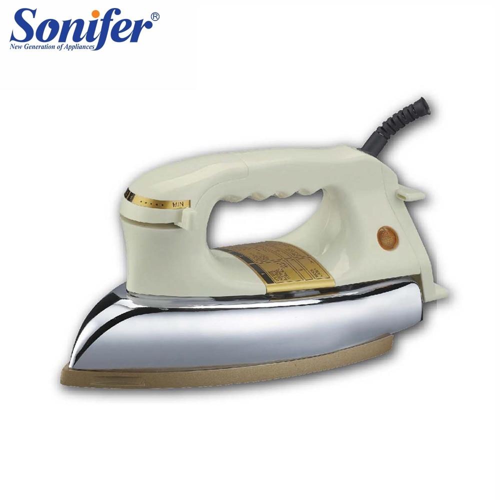 Sterilization Steam High Power Household Iron Dry Iron Full Metal Non-stick sole plate Sonifer