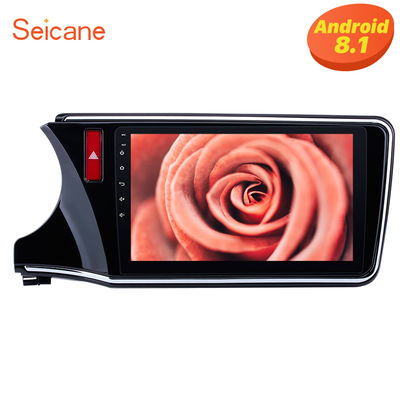 <font><b>Seicane</b></font> 10.1 inch Android 8.1 for 2014 2015 2016 2017 <font><b>Honda</b></font> <font><b>CITY</b></font> Left HD 1024*600 Touchscreen Radio GPS Sat Nav support WIFI USB image