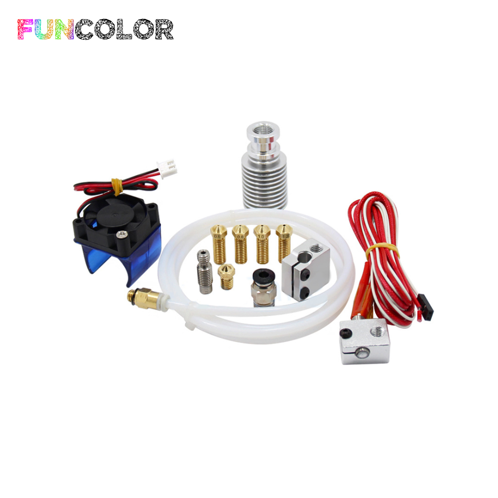 V6 J head Extruder with Fan Volcano Block Long Nozzle 0 6 0 8 1 0 1 2 mm Hotend Part Aluminum 1 75mm 12V 40W 3D Printers Parts in 3D Printer Parts Accessories from Computer Office