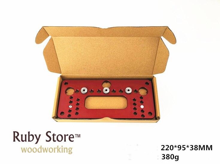 Купить с кэшбэком Furniture Handle Hole Drilling Jig