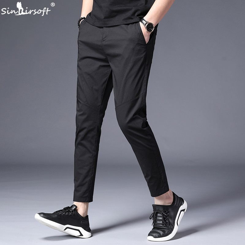 Ankle Length Causal Harem Casual Pants Trousers Men Male Solid Slim Straight Business Classic Man Trouser Pantalon Homme Hombre in Harem Pants from Men 39 s Clothing