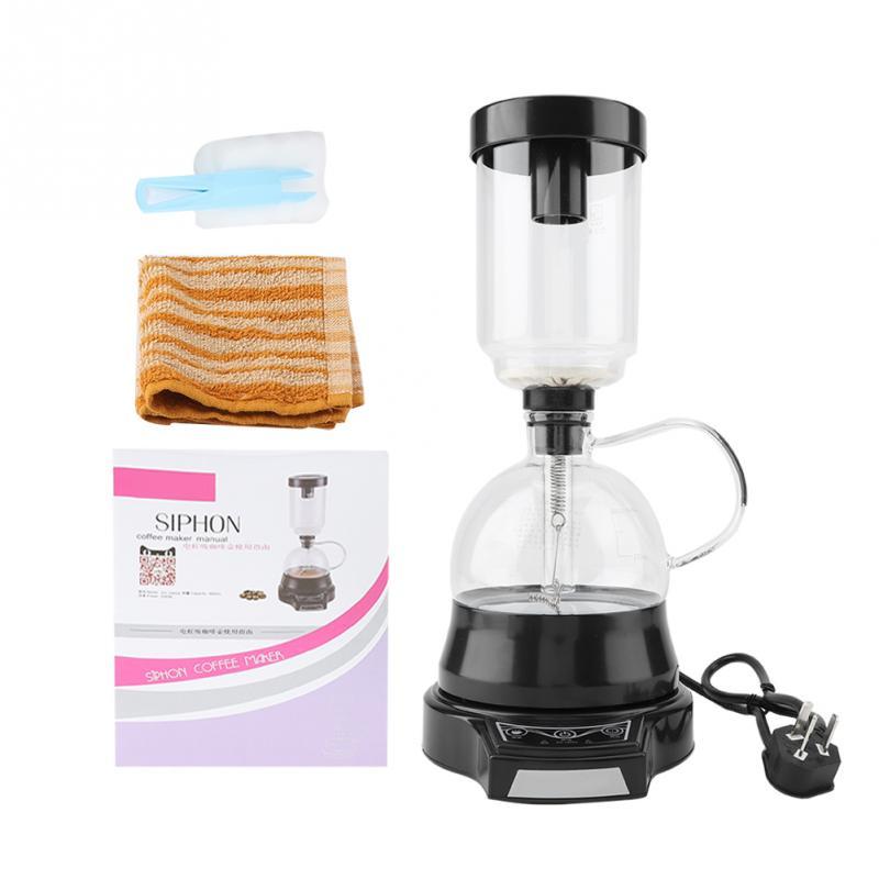 360ml 전기 사이펀 사이펀 커피 메이커 진공 커피 메이커 유리 타입 커피 머신 브루어 양조 기계 (au 플러그)-에서커피포트부터 홈 & 가든 의  그룹 2