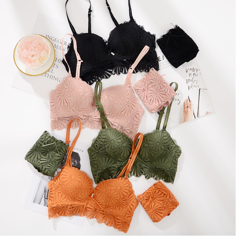 Fashion Sexy   Bra     set   Women's push up Lace Underwear Panties Thin breathable   bra     set   Jacquard Sexy Underwear Free Shipping