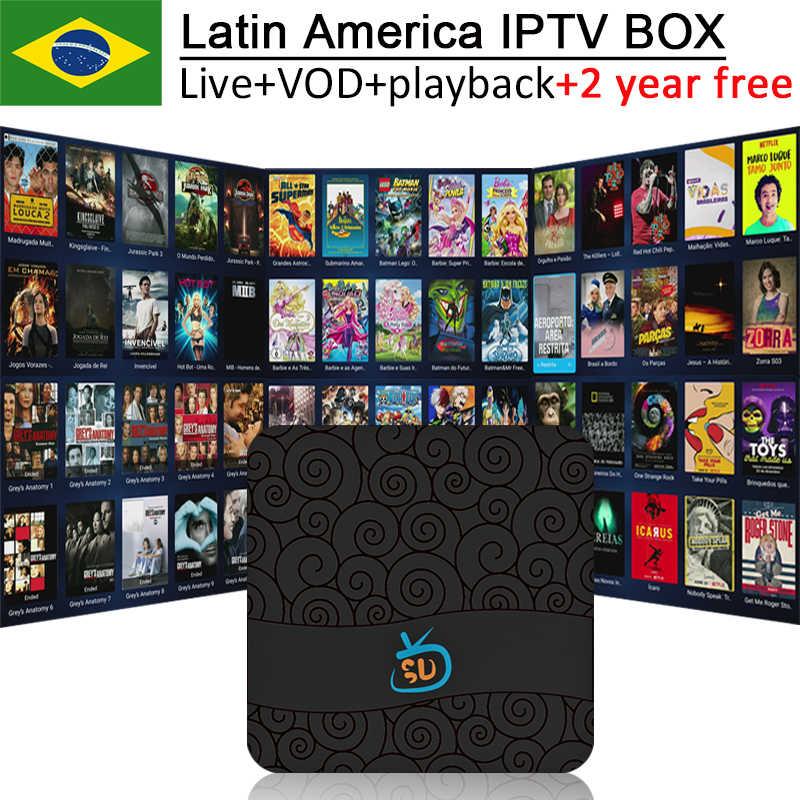 Best Android tv box iptv GOTV free live vod playback iptv brasil south  america