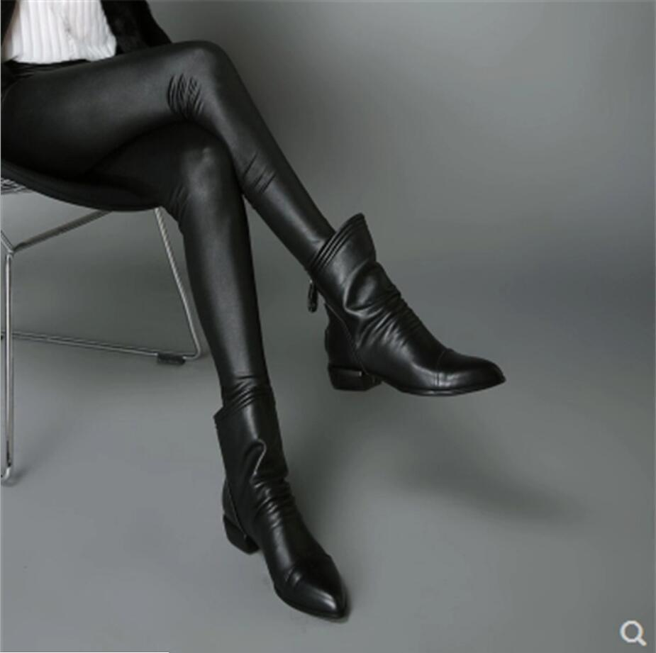Planos Muje Plus De Señaló Black Botas Martin Tobillo Zapatos Mujer Tamaño Pu Para Ocasionales Cremallera zxwnO0qA