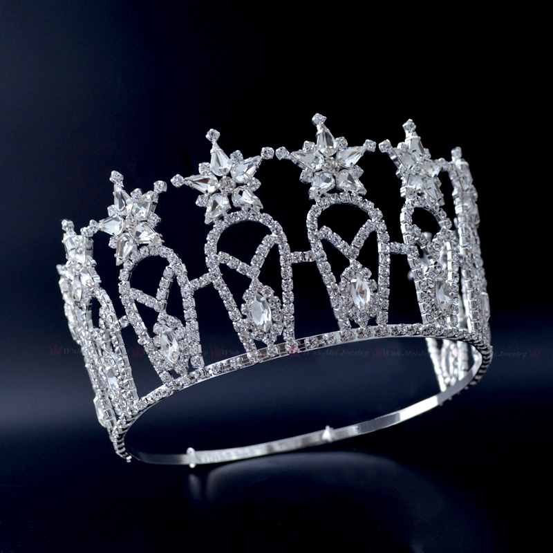 Pageant Crowns Miss Beauty Crown Quanlity Rhinestone Tiaras Bridal