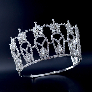 Pageant Crowns Miss Beauty Crown Quanlity Rhinestone Tiaras Bridal Wedding Hair Jewelry Accessories Adjustable Headband mo232