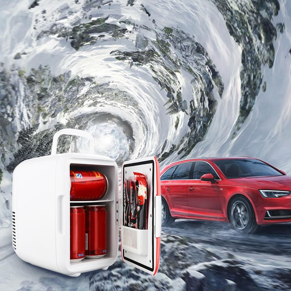 Dual-Use 4L Home Car Use Refrigerators Ultra Quiet Low Noise Car Mini Refrigerators Freezer Cooling Heating Box Fridge
