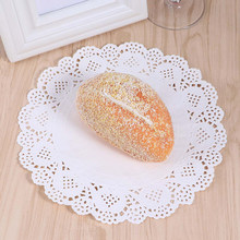 180pcs Paper Placemats Round Lace Flower Pattern Paper Doilies Cake Packaging Pads for Bread Cakes French Fries Desserts(China)