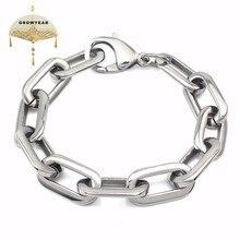 Модный браслет, овальные частицы, браслет из бисера, для мужчин и женщин, толстый, золотой, серебряный, 2 цвета, прямоугольный, прочный браслет