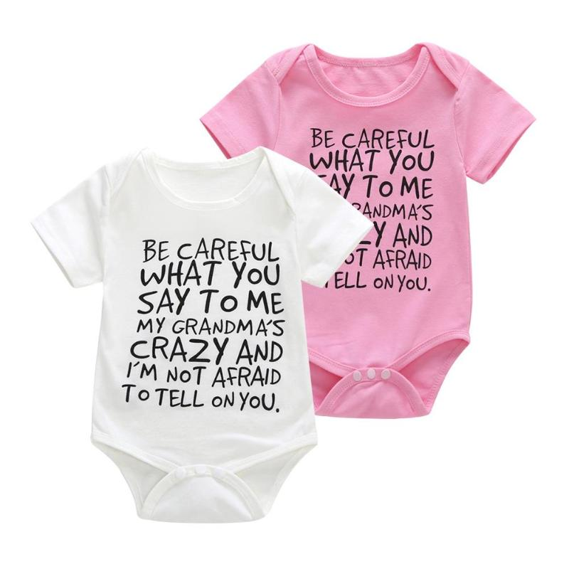 1pcs Newborn Baby Clothes Short Sleeve Basic Rompers Cute Le