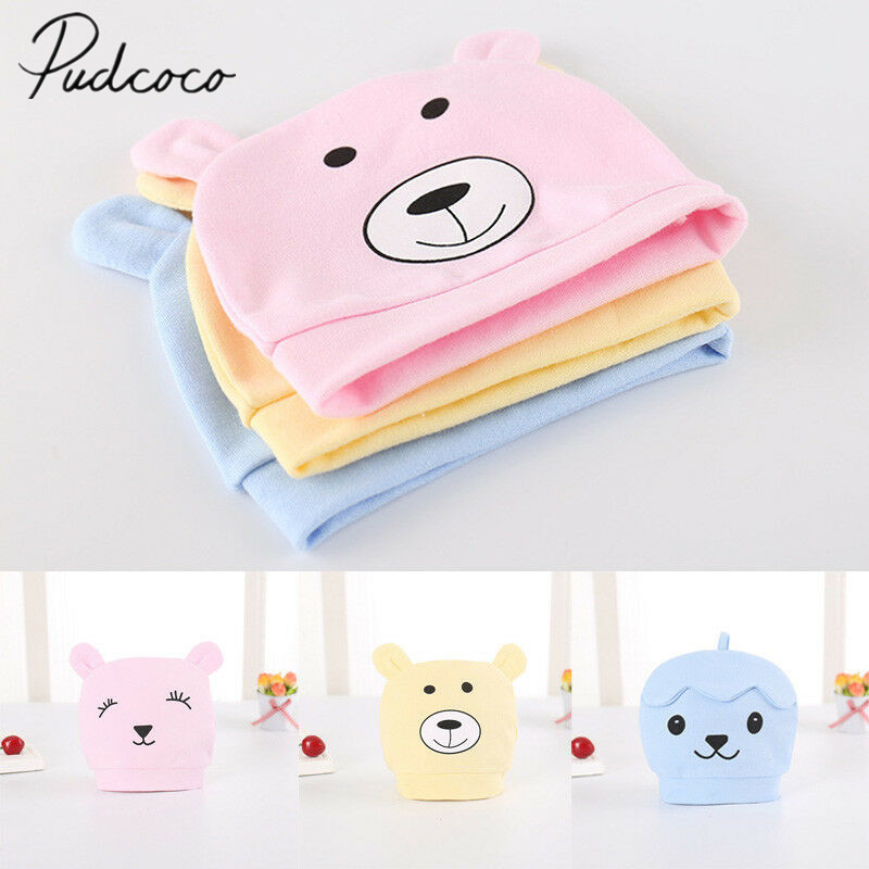 2019 Brand New Toddler Newborn Kids Baby Boy Girl Infants Cotton Soft Warm Santa Hat Beanie Cap 3D Bears Ears Soft Hospital Hat