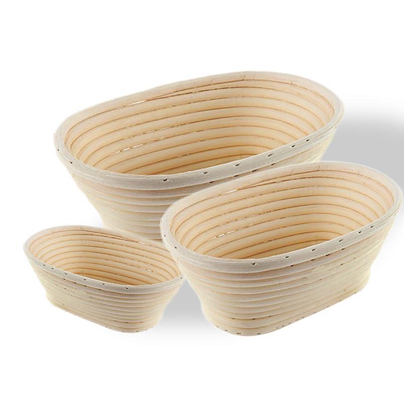 Natural Rattan Bread Fermentation Basket Long Dough Proofing Loaf Proving Mold Home Baking Pastry Tools Bakeware