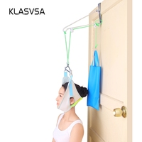 Sandbag Over Door Neck Massager Cervical Traction Device Therapy Stretcher Adjustment Chiropractic Back Pain Relief Relaxation