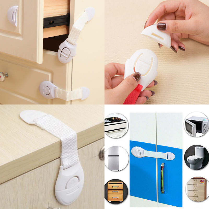 Useful Locks Child Infant Baby Kids Drawer Door Cabinet Freezer Cupboard Safety Locks For Children's Safety Plastic Lock