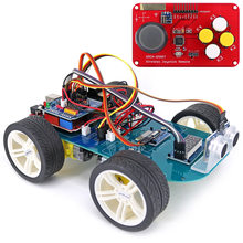 New 4WD Wireless Joystick DIY Remote Control Smart Car Programmable High Tech Toy Kit With Tutorial For Arduino For R3 Nano Hot(China)