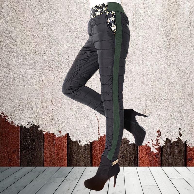 Pantalon chauffant électrique hiver taille haute bas pantalon polaire doublé épaissi chaud pantalon genouillères grand pantalon à température constante