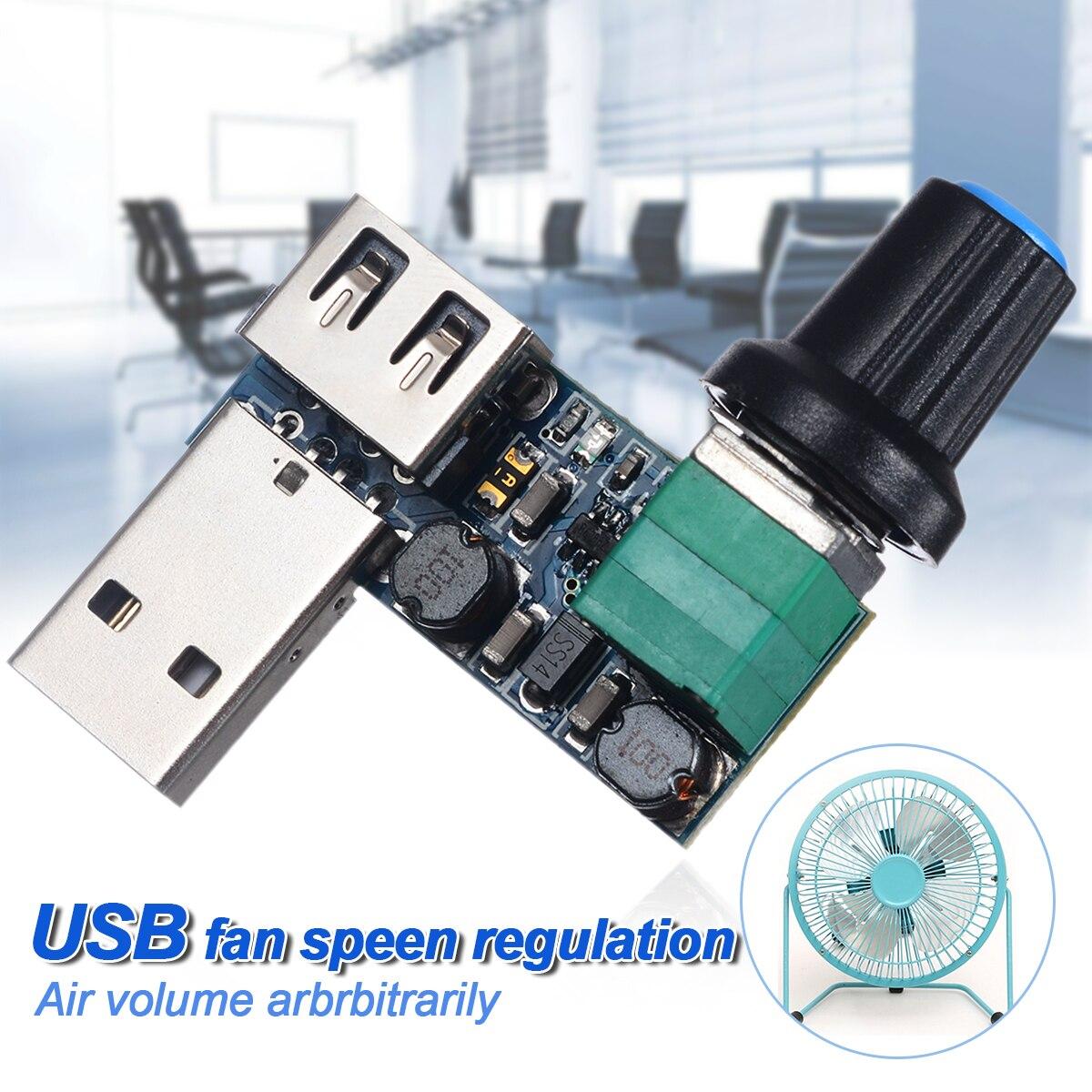 5V To 12V USB Fan Speed Controller Switch Mayitr Fan Stepless Speed Controller Speed Variable Regulator Module