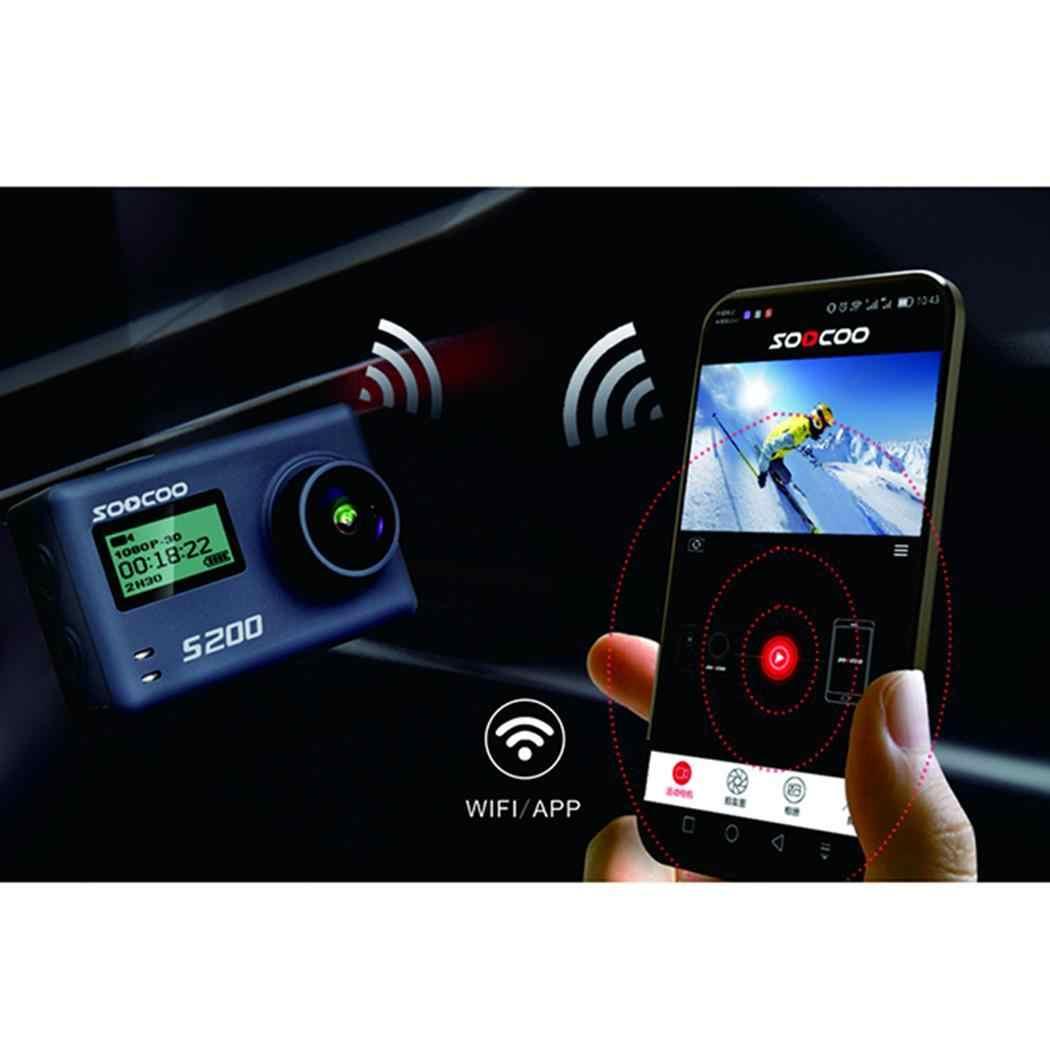 SOOCOO S200 пульт дистанционного управления для спортивной Камера со сверхвысоким разрешением Ultra HD, 4 K, 20MP NTK96660 чип Датчик камеры Wi-Fi Gryo голос Управление микрофон gps сенсорный ЖК-дисплей Экран