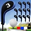 12 шт./компл. Чехлы для клюшек для гольфа с железной головкой на молнии с длинным горлом 4 цвета