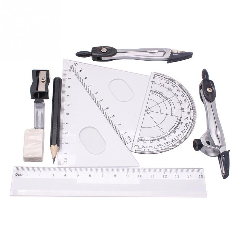 10Pcs Compasses Painting Examination Set Geometry Protractor Math Drawing Ruler School Compasses Set Student Stationery #410Pcs Compasses Painting Examination Set Geometry Protractor Math Drawing Ruler School Compasses Set Student Stationery #4