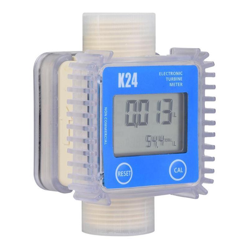 Multi-but K24 Turbine Débitmètre Mesure Outil Numérique D'eau de Carburant Diesel Testeur De Débit Indicateur Compteur