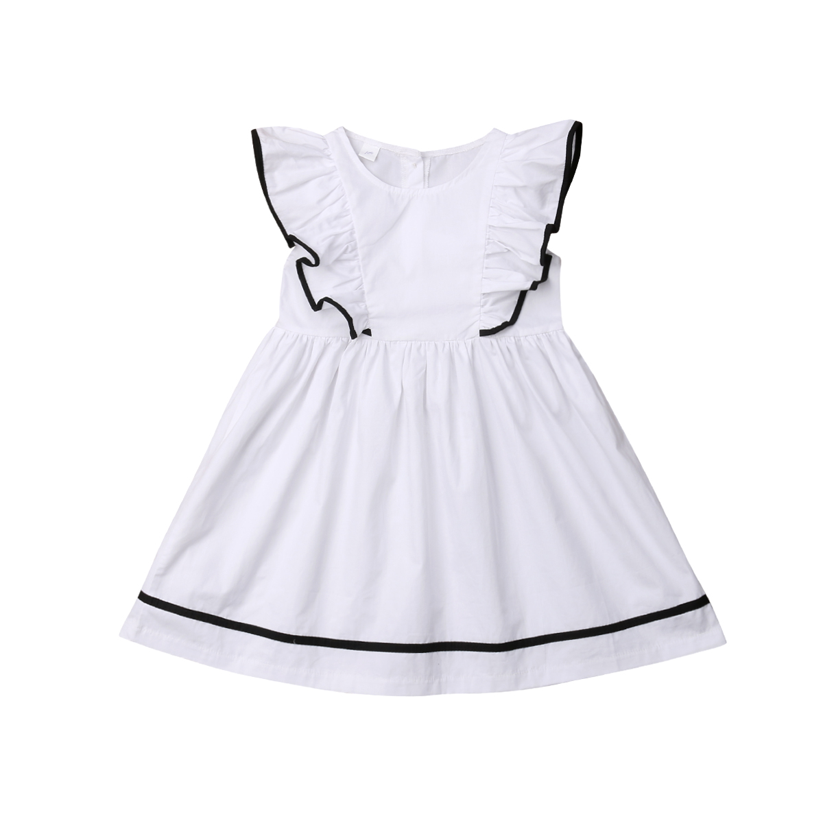 a28a9b11f850 Aliexpress.com : Buy Toddler Kids Baby Girls Clothes Ruffle Dress Party  Princess Tutu Dress White Sundress from Reliable Dresses suppliers on Baby  S069 ...