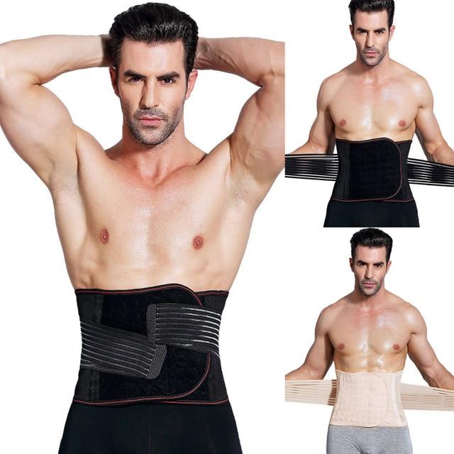Men Body Shaper Slimming Waist Trimmer Belt Corset Beer Belly Fat Cellulite Burner Tummy Control Stomach Girdle