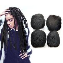 YONNA Tight Afro Kinky Bulk Human Hair 100% Human Hair For Dreadlocks,Twist Braids For Black Women 4pcs/lot For Full Head