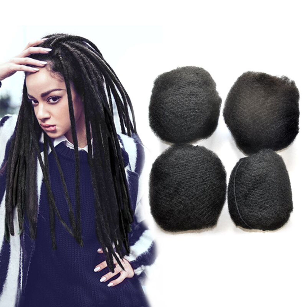 YONNA Tight Afro Kinky <font><b>Bulk</b></font> Human Hair 100% Human Hair For Dreadlocks,Twist Braids For Black Women 4pcs/lot For Full Head image