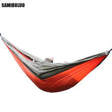 Adult Travel Single/Double Hammock Portable With 2 Straps 2 Carabiner
