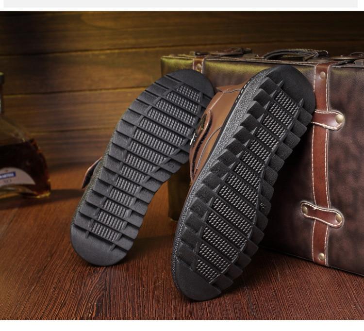 Genuino Botas Zapatos Black Hombres Nieve Para Negocios Tobillo Alta Cuero Mano Invierno Hecho De Los Nuevo A Calidad Hombre brown w8XgqWp