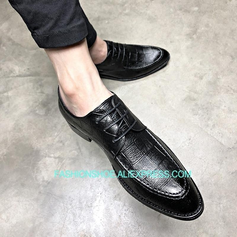 2 1 Vestido Estilo Negócio Sapatos Homens Moda Coreano Formal as Verão Do Respirável Show Terno As Sapato 66Swatqx4H