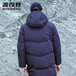 Image 2 - BOSIDENG hommes à capuche longue doudoune hiver sur le genou mode décontracté de haute qualité vers le bas manteau imperméable parka B80142015