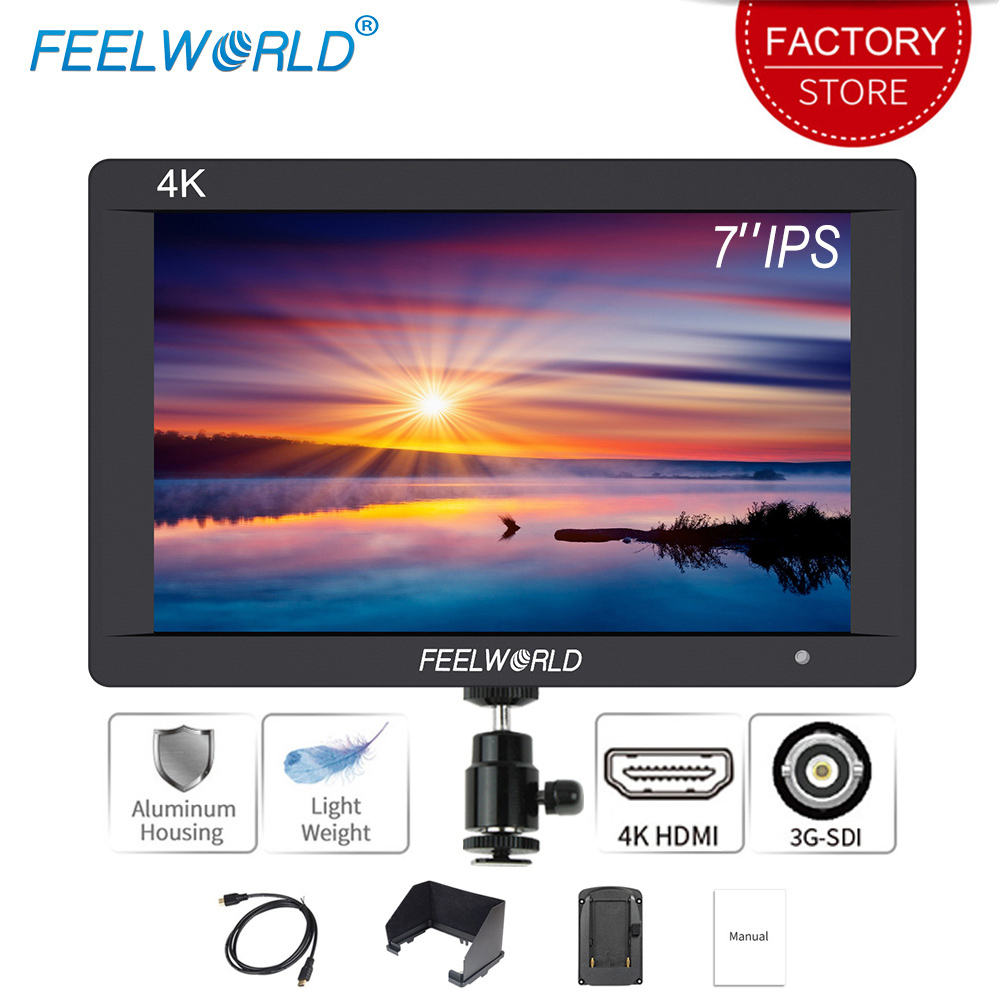 T756 DSLR On Camera Field Monitor 7 Inch IPS Full Hd LCD Screen 1920X1200 Video Assist 4K Hdmi Input Output Peaking Focus