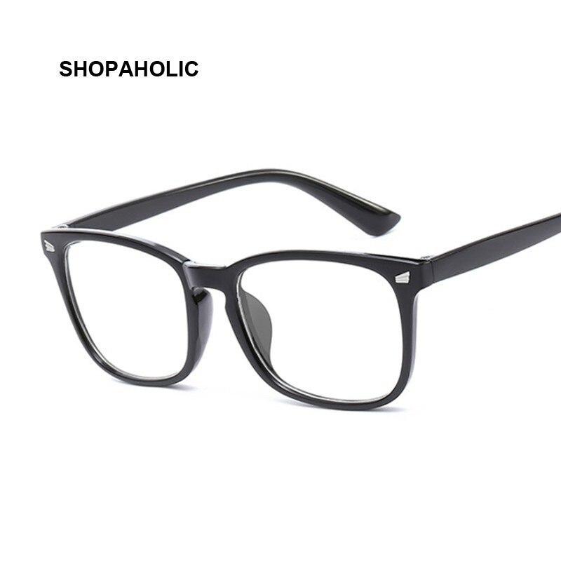 Fashion Vintage Transparent Rectangle Glasses Women Retro Square Frame Sun Glasses Brand Designer Luxury Female Blue Eyewear