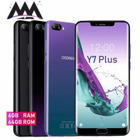 DOOGEE Y7 Plus cell phone 6GB + 64GB 6.18 1080*2246 Screen Android 8.1 MTK6757 Octa Core 16.0MP+13.0MP 5080mAh 4G Smartphone