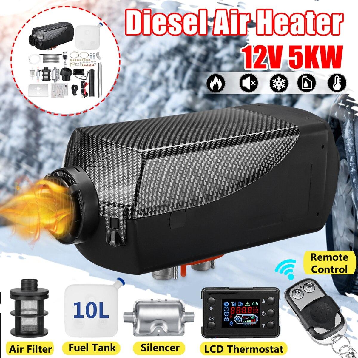 Air Diesel/Chauffe-5KW 12 V Planaire LCD Pour Voiture Camions Bateaux Moteur-Maisons Dernière Kit Moniteur pour camping-Car RV Remorque Avec Télécommande