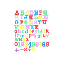 A-Z Alphabet Fridge Magnets Letters Numbers Fridge Magnets Stickers Children Kids Educational Learning Toys Gift(China)
