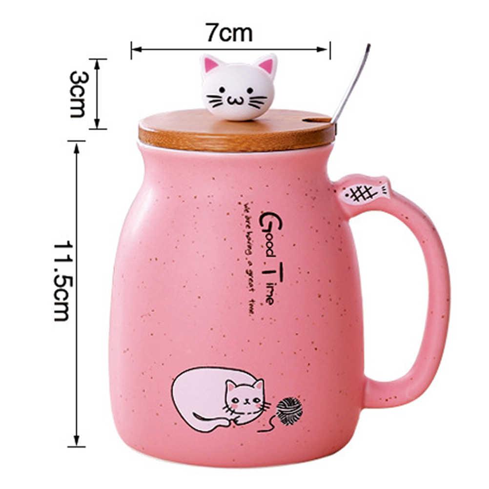 3 шт. 420 мл набор керамических чашек изысканный практичный мультфильм кошка молочные чашки стаканы для питья для кухни бар