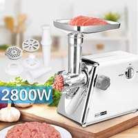 220 V 240 V 2800 W многофункциональный электрический колбасы мясорубку электрическая мясорубка Кухня Инструмент Три шлифовальные пластины 15x34x33 с