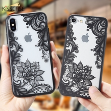 KISSCASE Ultra-thin Phone Case For iPhone 11 Pro Max XR XS MAX X 7 8 6 6S Plus Lace Flower TPU Cases 5 5S SE Cover