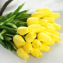 Artificial Flower Silk Tulip Real-Touch Bouquet Fake Wedding Home-Decoration PU for Party