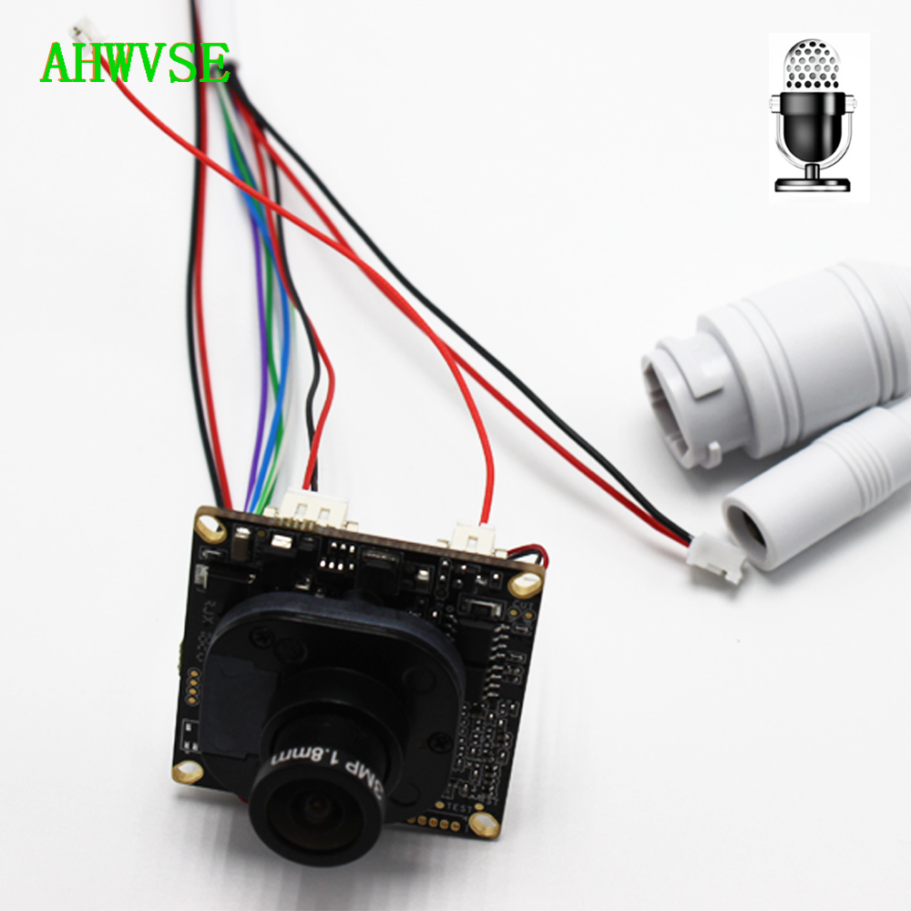 2pcs Audio IP Camera Module PCB board Audio Input With External Pickup Microphone 1080P IP Camera with 1.8mm lens2pcs Audio IP Camera Module PCB board Audio Input With External Pickup Microphone 1080P IP Camera with 1.8mm lens