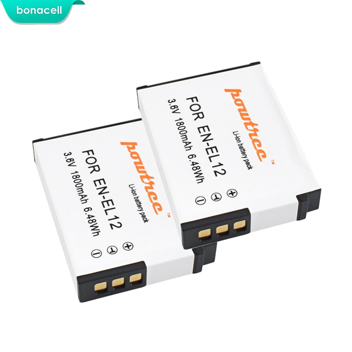 Bonacell 1800mAh EN-EL12 EN EL12 Battery for Nikon CoolPix S610 S610c S620 S630 S710 P300 P310 P330 S6200 S6300 S9400 S9500 L15Bonacell 1800mAh EN-EL12 EN EL12 Battery for Nikon CoolPix S610 S610c S620 S630 S710 P300 P310 P330 S6200 S6300 S9400 S9500 L15